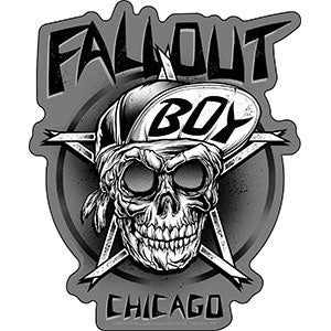 Fall Out Boy - Chicago Skull Sticker