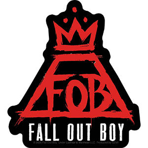 Fall Out Boy - Red Crown Sticker