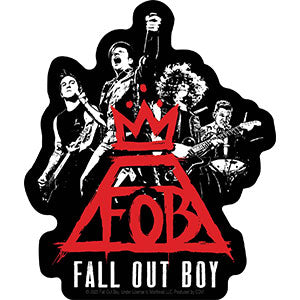 Fall Out Boy - Red Crown Group Sticker