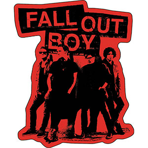 Fall Out Boy - Red Stencil Group Sticker