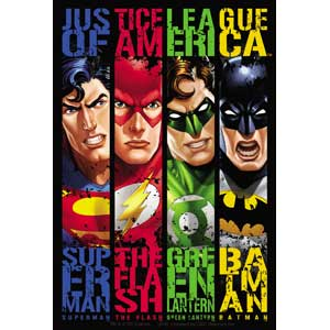 Justice League - Banner Sticker