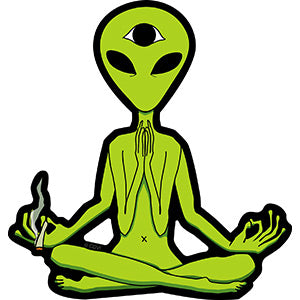 Alien Theme - Zen Alien - Sticker