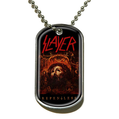 Slayer - Necklace-Pendant -Dog Tag-Logo-Collector's-UK Import-Licensed New
