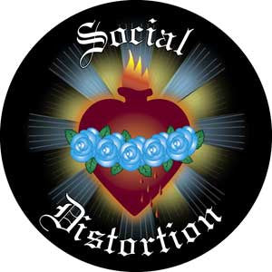 Social Distortion - Heart Roses Magnet