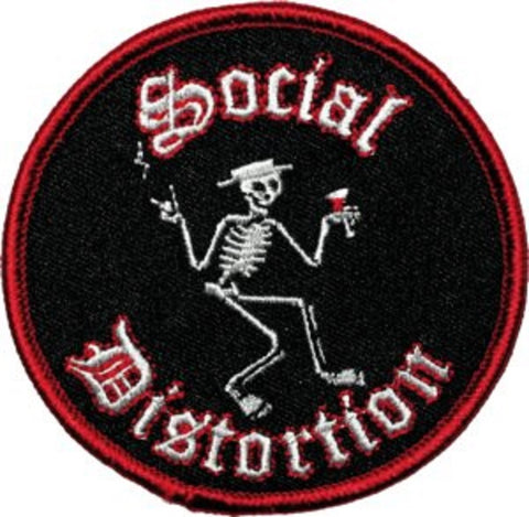 Social Distortion - Round Skelli Patch