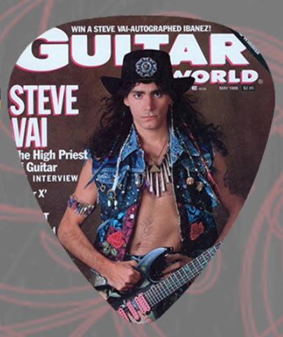 Steve Vai - Guitar Pick - Guitar World - Celluloid - Pack Of 2 - Whitesnake