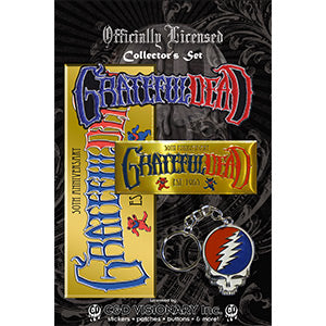 Grateful Dead - Keychain, Sticker, Emblem, Patch - Collector's Set Pack