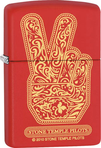 Stone Temple Pilots - Red Matte - Flip Top - Zippo Lighter