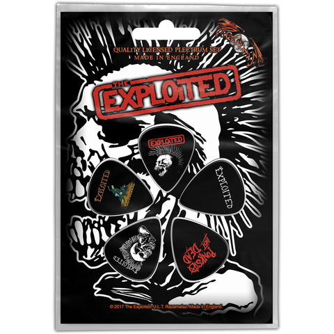 The Exploited - Guitar Pick Set - 5 Picks-Punk-UK Import - Licensed New In Pack