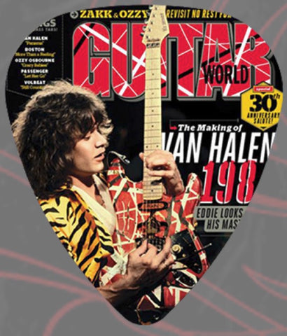 Eddie Van Halen - Guitar Pick - Guitar World Magazine *Pack Of 2*