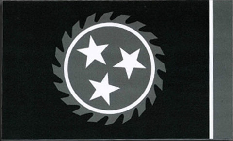 Whitechapel - Sticker - Dark Grey Color Flag Sawblade Logo