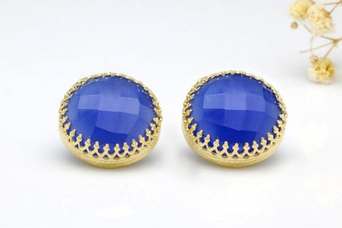 Blue Onyx Earrings