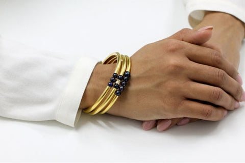 Gold filled bangle set