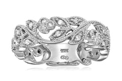 10k White Gold and White Diamond Ring (1/4 cttw, H-I Color, I3 Clarity)