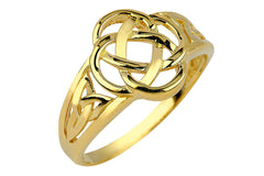 10k Yellow Gold Ladies Trinity Triquetra Ring