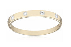 10k Yellow Gold Diamond Band (0.06 cttw, I-J, I2-I3)