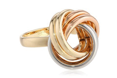 14k Tri-Color Gold Knot Ring