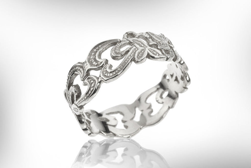 Art Nouveau Wedding Band