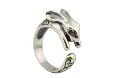 8% OFF 925 Sterling Silver Rabbit Animal Ring Gift for Friend Everyday Wear