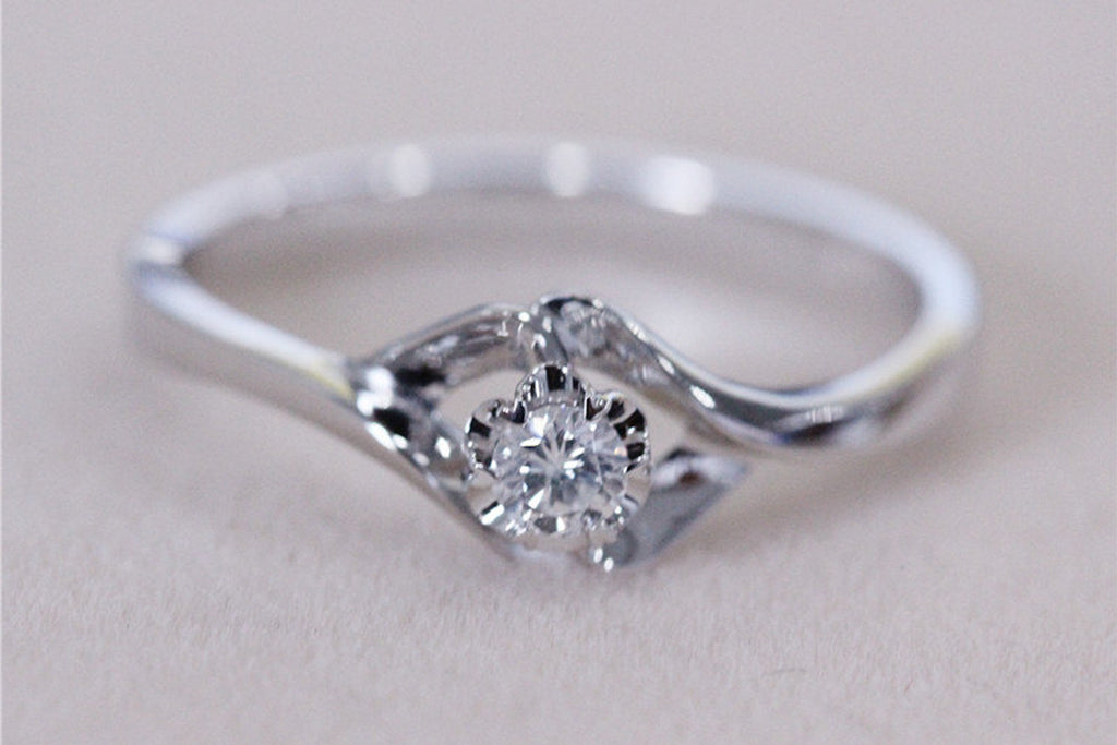Unique Flower Diamond Ring