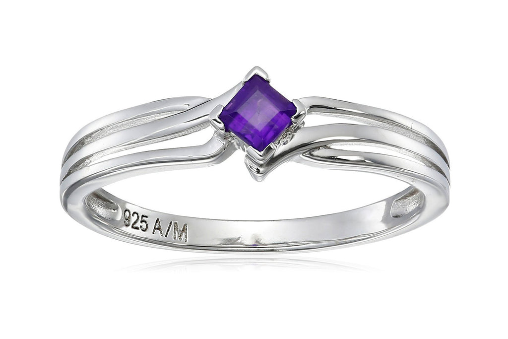 Sterling Silver Gemstone Ring (0.25 cttw)