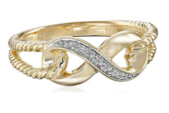 10k Yellow Gold Infinity Diamond Ring