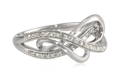 Sterling Silver 1/4cttw Diamond Heart Ring