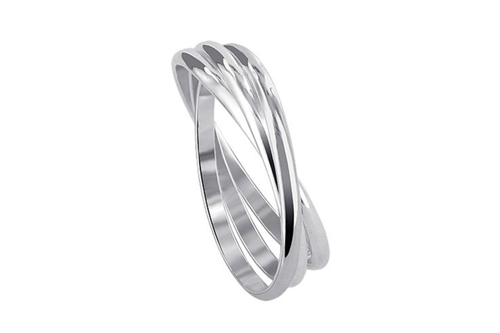 925 Sterling Silver Triple Band Thumb Ring