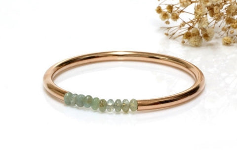 Aquamarine rose gold bracelet