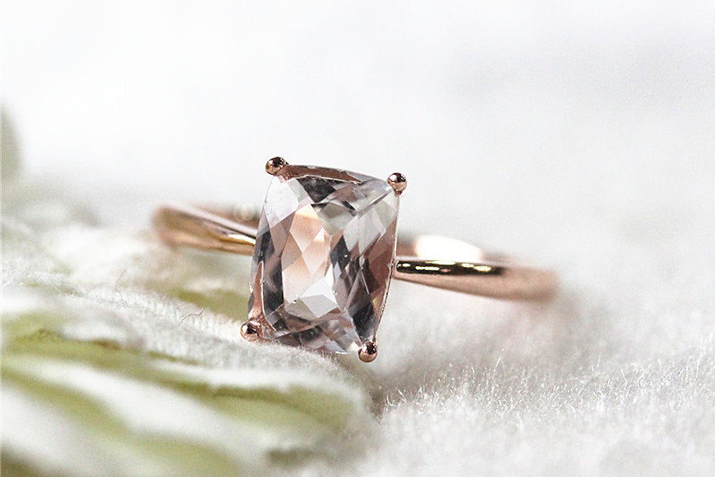 Rose Gold Morganite Wedding Ring