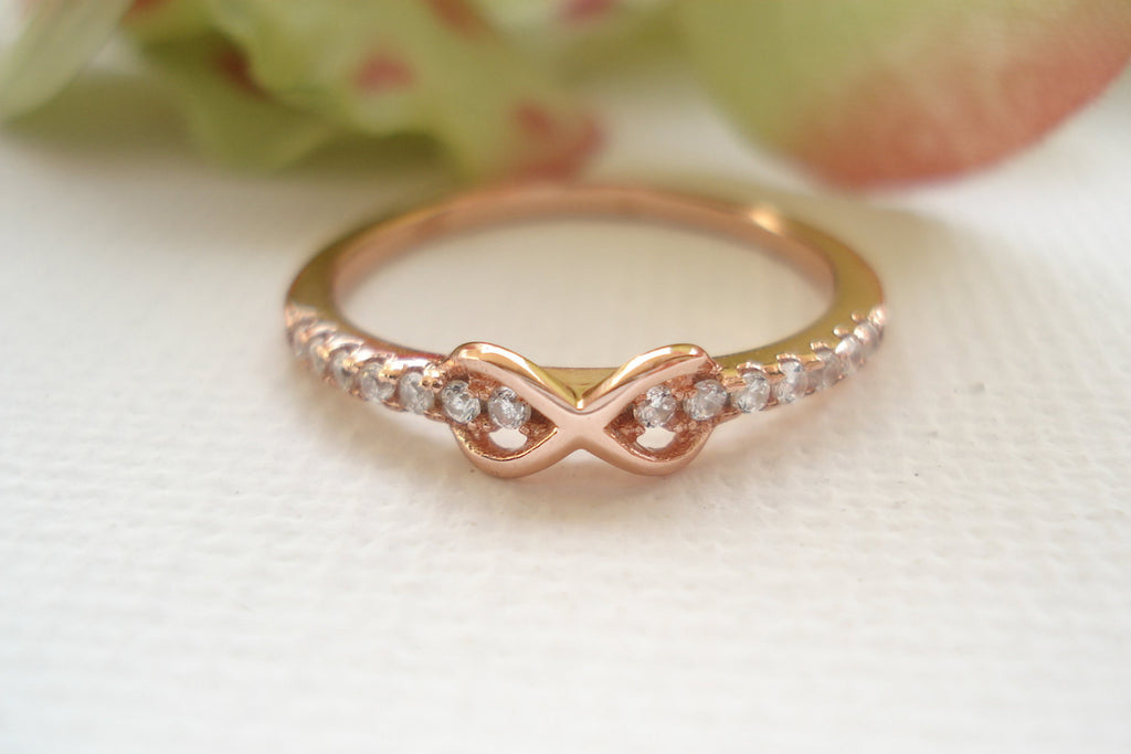 Tiny Infinity Sterling Silver with the gold plated Ring