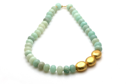 Gold amazonite necklace