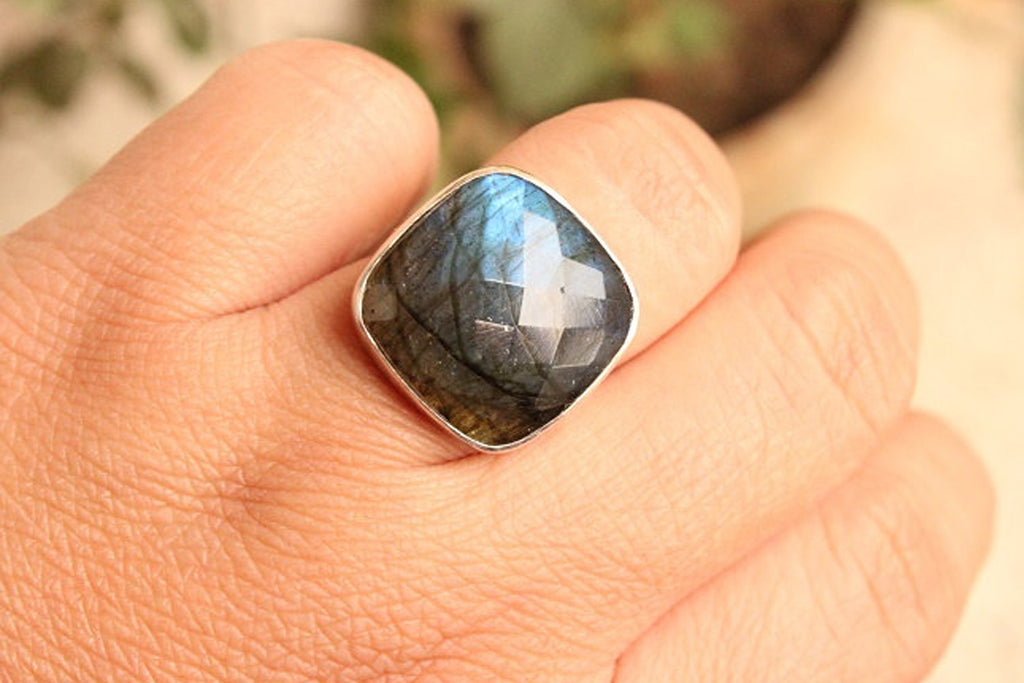 Natural Labradorite Ring