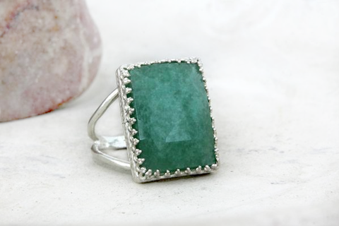 925 Sterling Silver Amazonite ring