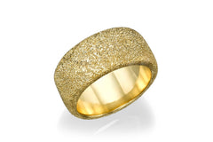 14K Yellow Gold Wedding ring with glitter