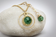 Agate emerald necklace
