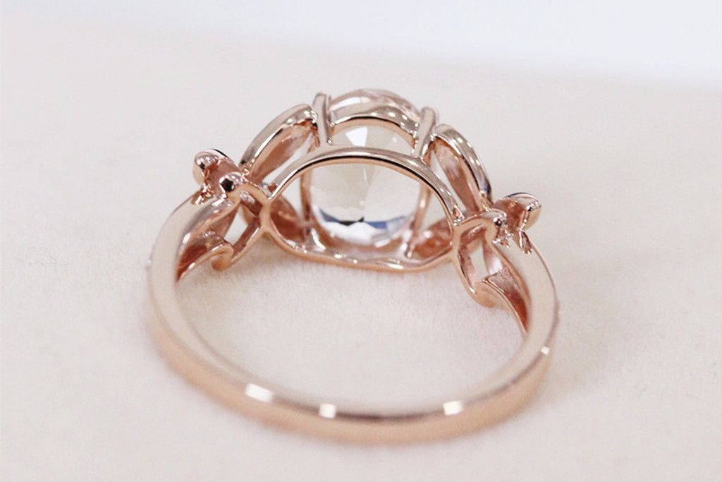 Oval Morganite Wedding Ring