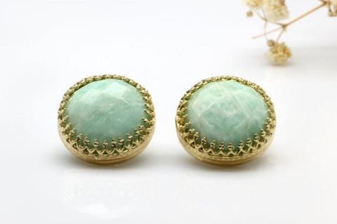 Gold Amazonite earrings