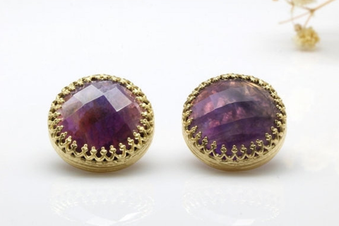 Large Amethyst earrings
