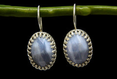 925 sterling silver agate gemstone earrings
