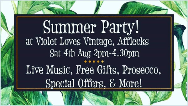Summer Party Event At Violet Loves Vintage, Afflecks, Manchester