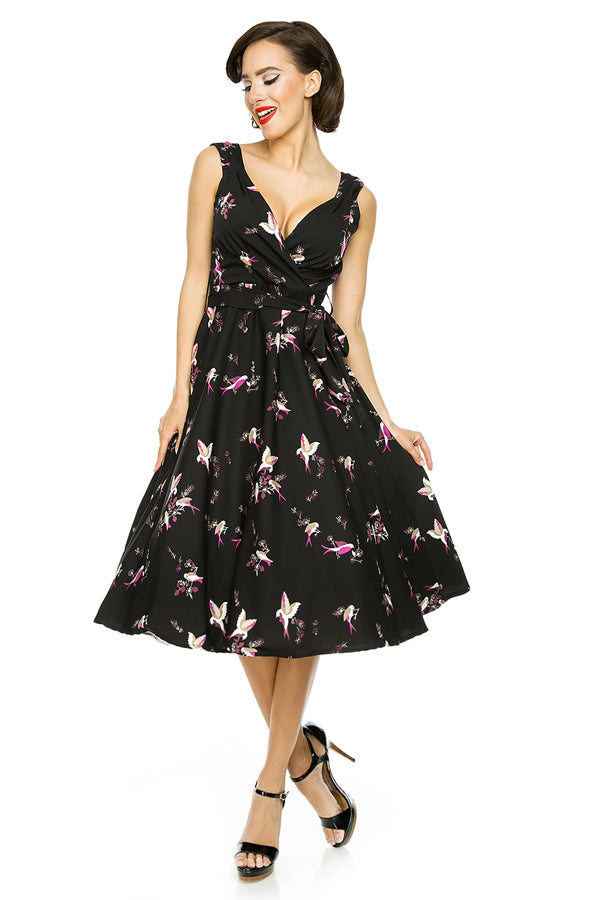 Beautiful Birds Dress - Black