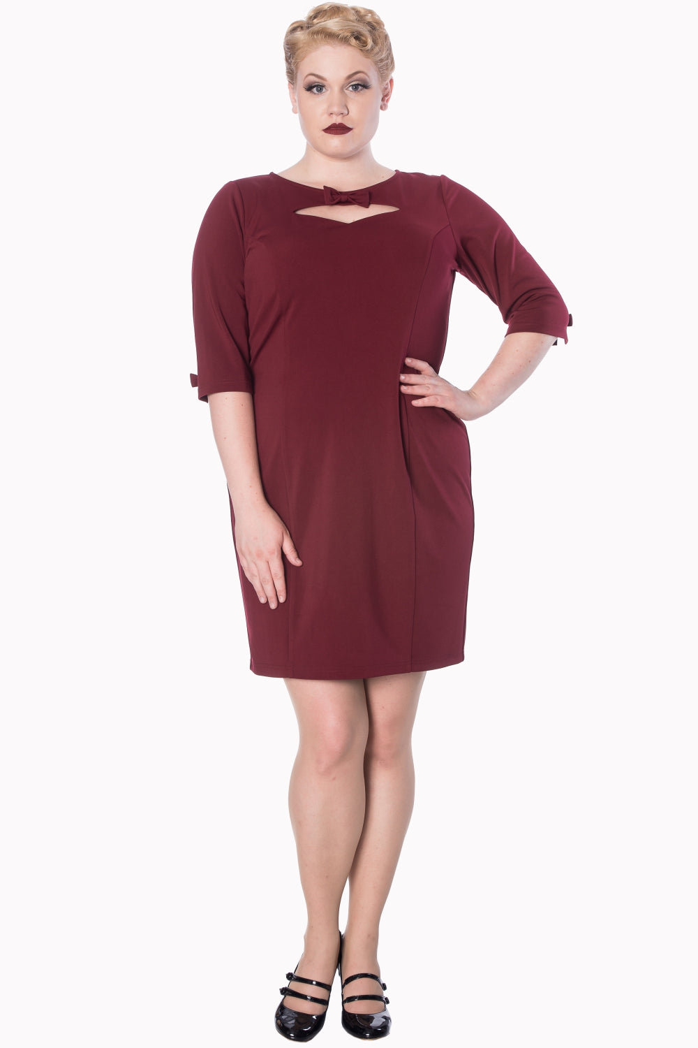 Sophia Fitted Dress - Plus Size