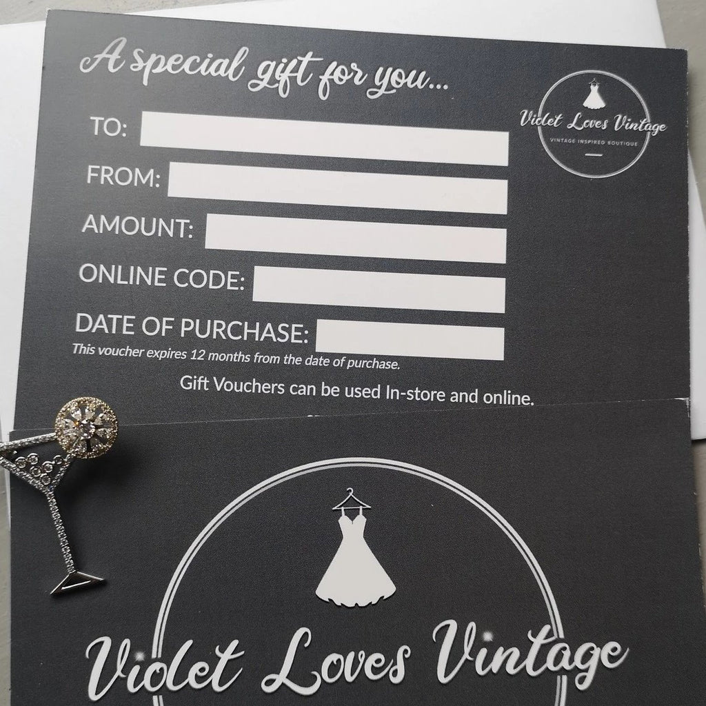 Violet Loves Vintage Gift Vouchers
