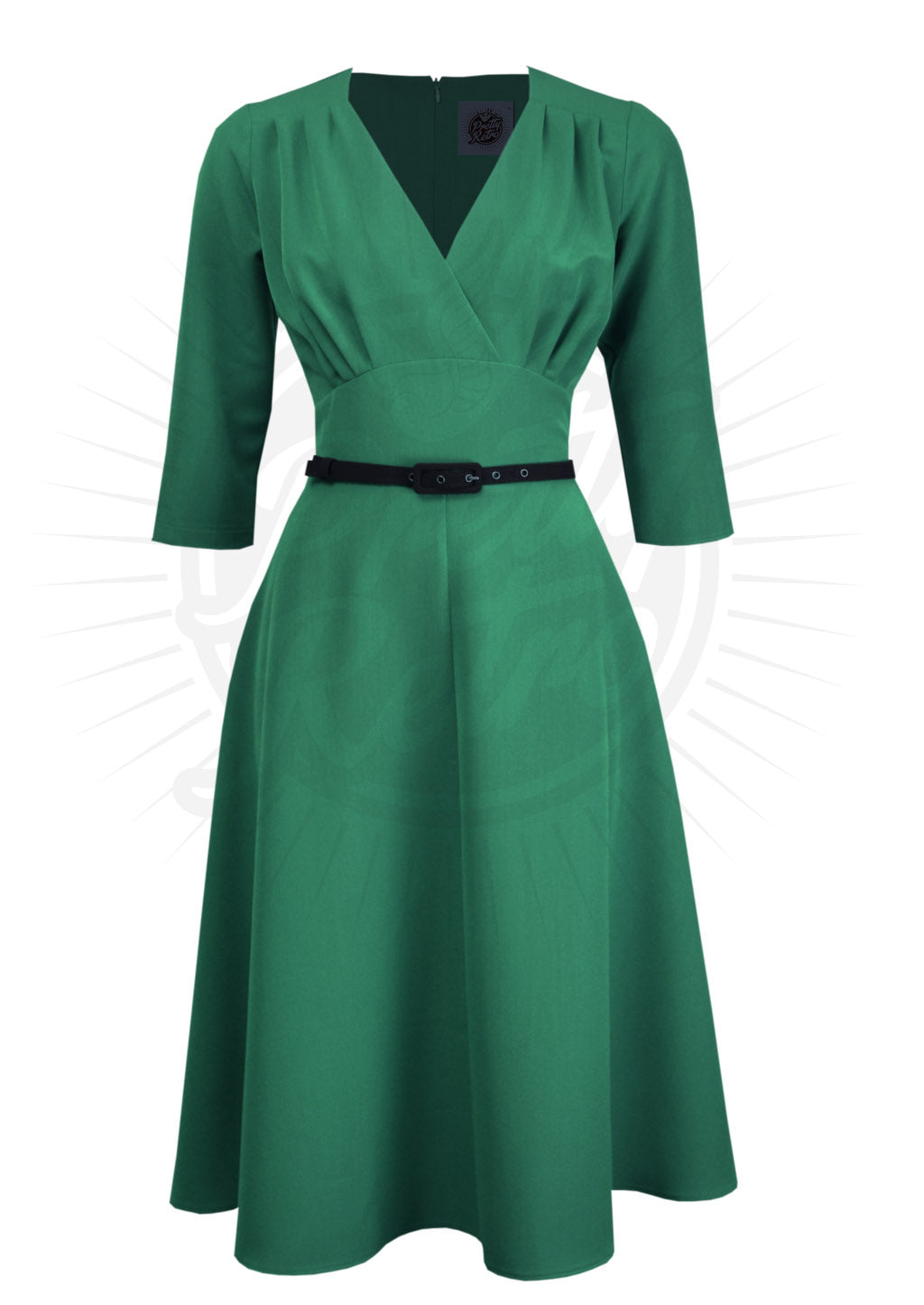 Emerald Green Classic 1940's Style Dress