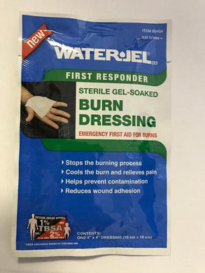 Burn Dressing Water-Jel 4x4 !