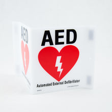 AED 3 way V-Shape Sign