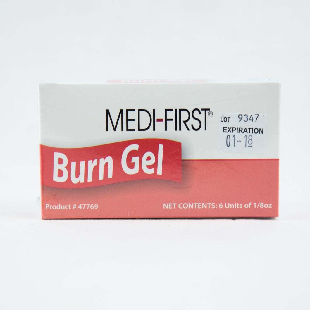 Burn Gel with Lidocain 1/8 oz Packet 6/Unit