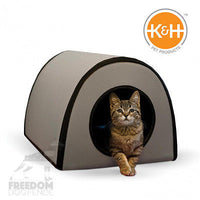 K&H Pet Products Mod Thermo-Kitty Shelter Gray15 inch Rigid Includes Heated Pad