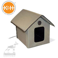 K&H Pet Products Outdoor Heated or Non Multiple Cat House Easy Assemble KH3990